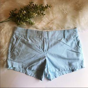 J. Crew Factory | light blue shorts size 6